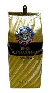 lion 100% kona coffee beans